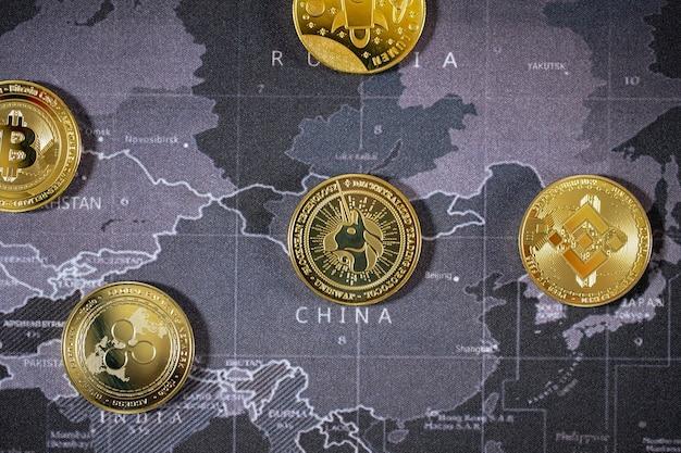 Crypto-monnaie bitcoin le taux de croissance de la pièce d'or est la monnaie pour tout payer à l'avenir du monde