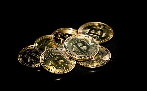 Cryptocurrency doré de bitcoin