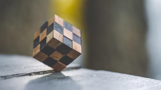 Cube en bois jeu de jeu