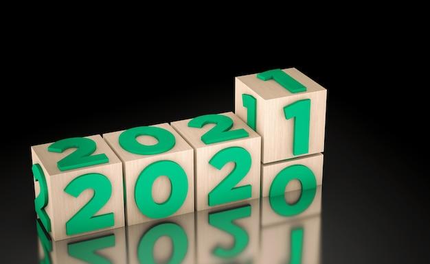 Cube fond noir nouvel an