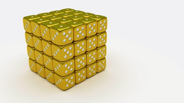 Cube en or 4 x4 x4
