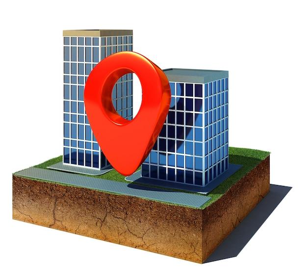 Cube de saleté avec une broche de navigation