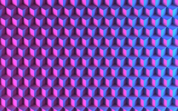 Cubes 3d violet bleu isométrique