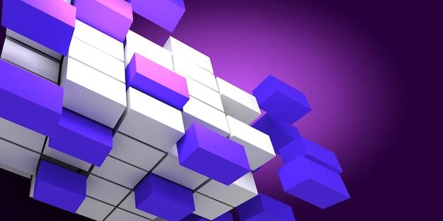 Cubes abstraits 3d. illustration 3d