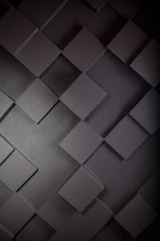Cubes abstraits carrés foncés