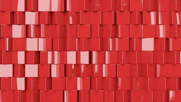 Les cubes abstraits métalliques tournent, illustration 3d