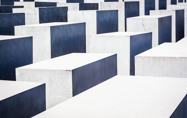 Cubes esthétiques d'affilée