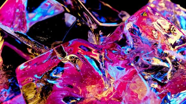 Cubes de glace de couleur de fond abstrait ou de texture