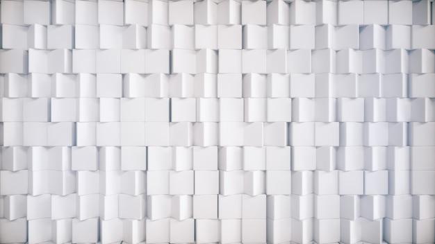Cubes tournant lentement au hasard. abstrait. illustration 3d
