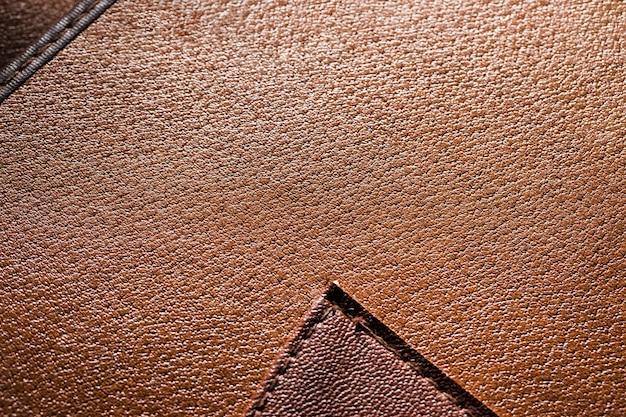 Cuir marron et design très rapprochés