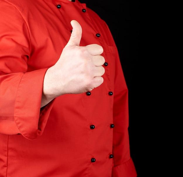 Cuire en rouge montre le geste comme