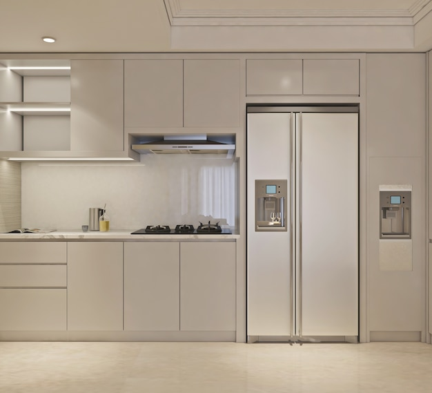 Cuisine au design minimaliste simple et moderne