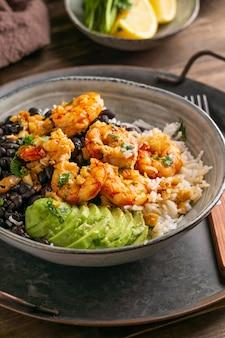 Cuisine brésilienne aux crevettes