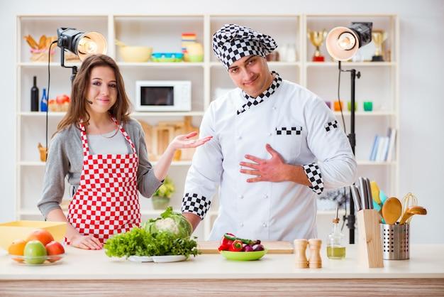 Cuisine cuisine émission de télévision dans le studio