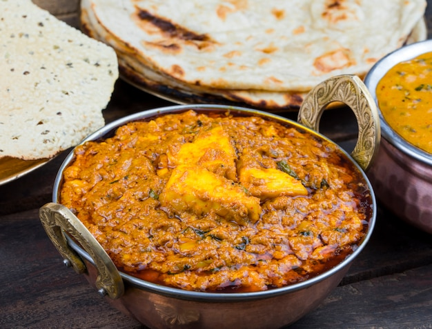 Cuisine indienne kadai paneer food