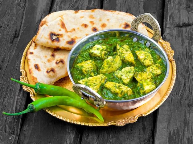 Cuisine indienne saine palak paneer