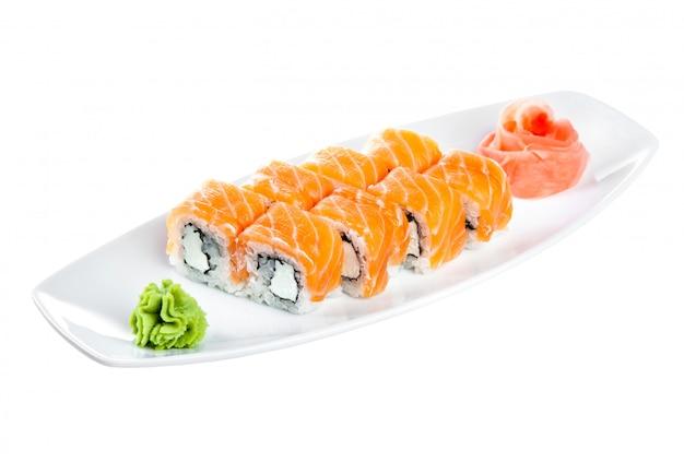 Cuisine japonaise - sushi (roll unagi maki syake)