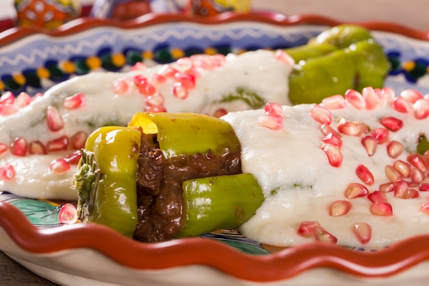 Cuisine mexicaine avec chili