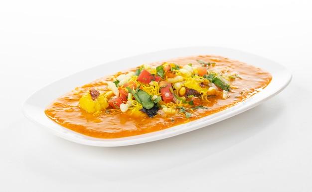Cuisine de rue populaire indienne, ragda pattice