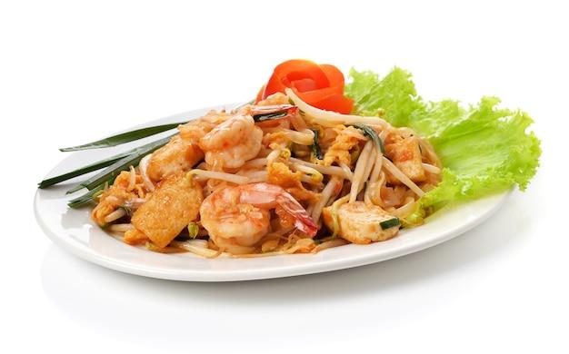 Cuisine thaïlandaise, crevettes thaïlandaises, nouilles à la thaïlandaise