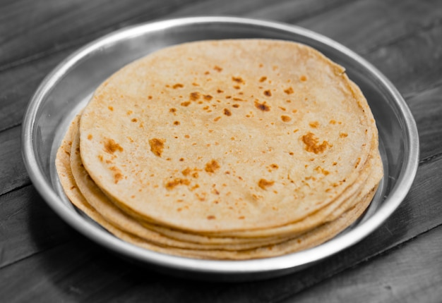 Cuisine traditionnelle indienne chapati