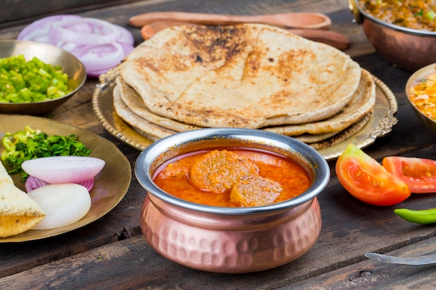 Cuisine traditionnelle indienne gatta curry