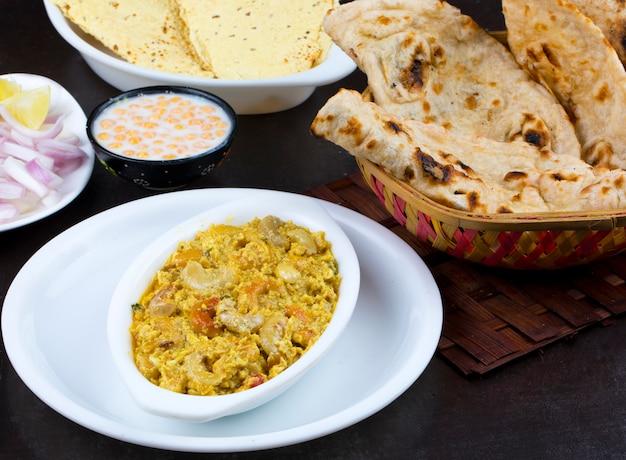 Cuisine végétarienne indienne kaju curry