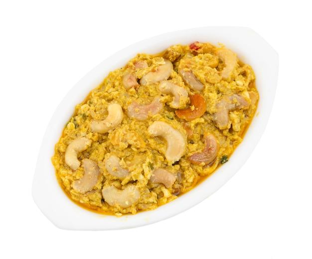 Cuisine végétarienne traditionnelle indienne kaju curry