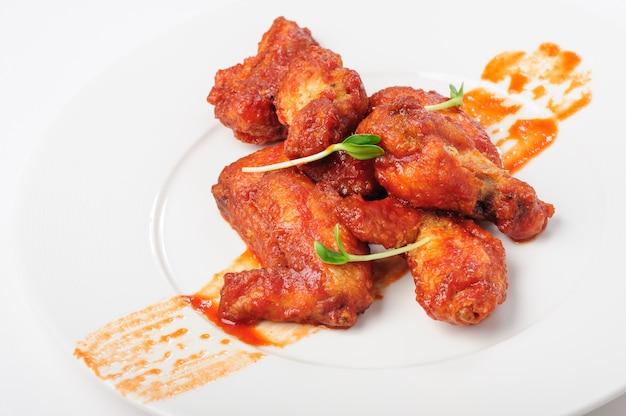 Cuisses de poulet grillées à la sauce caramel rouge