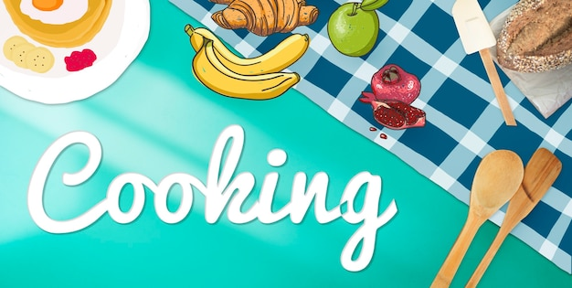 Cuisson culinaire gourmet cuisson concept hobby sain