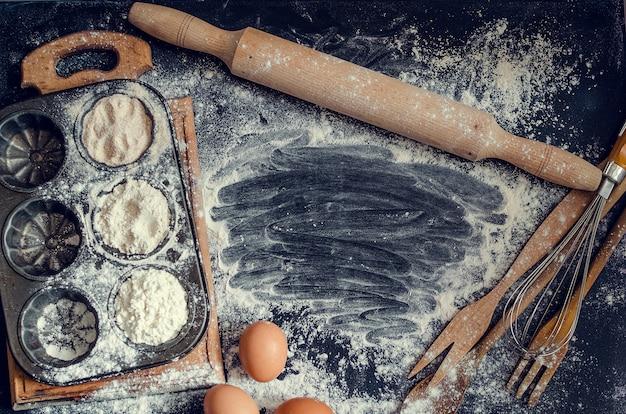 Cuisson des ingrédients de la pâtisserie