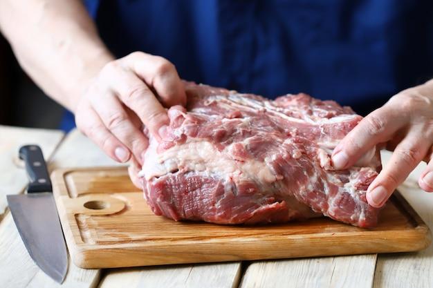 Cuisson de la viande.