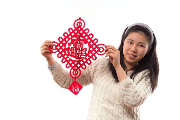 Culture asiatique jolie main du festival