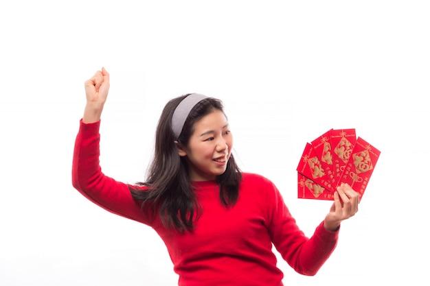 La culture des gens fille paquet oriental