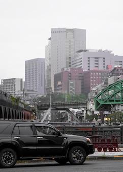 Culture japonaise avec automobile