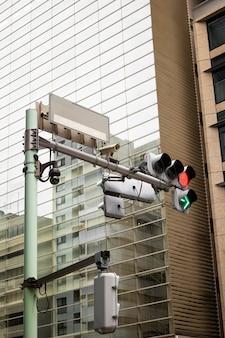 Culture japonaise avec feu de circulation