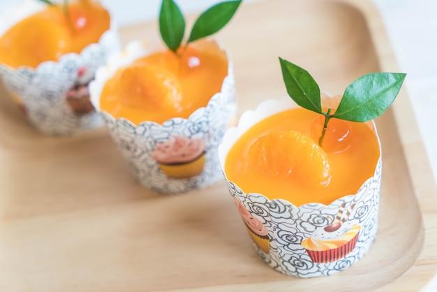 Cup Cake Orange Photo Premium