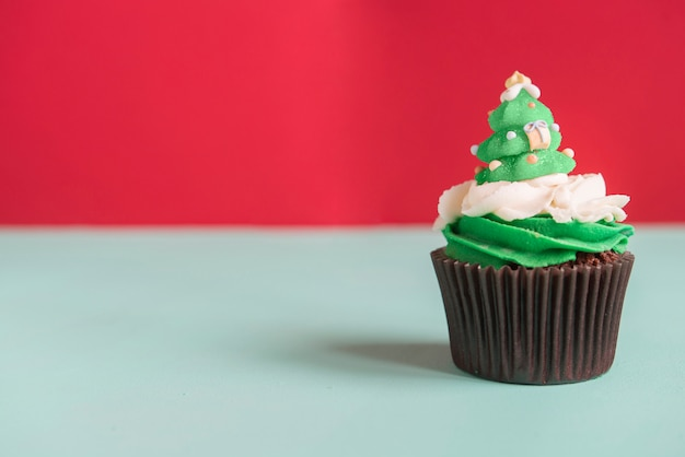 Cupcake d'arbre de noël