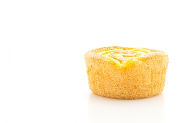 Cupcake éponge avec confiture de crème anglaise