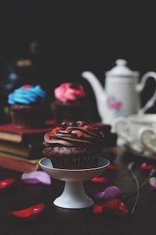 Cupcake avec mini-coeurs