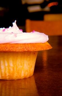 Cupcake rose givré