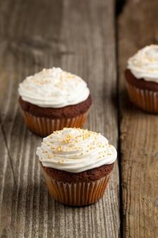 Cupcakes à la crème fouettée