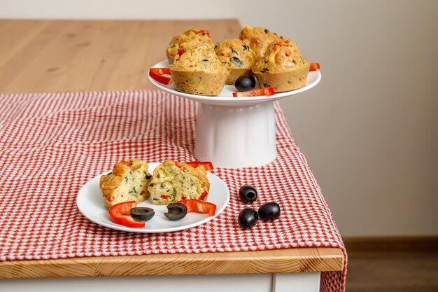 Cupcakes ou muffins aux légumes