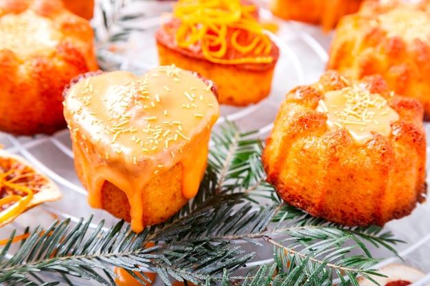Cupcakes muffins orange cuisson