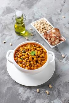 Curry de haricots noirs,cuisine indienne.