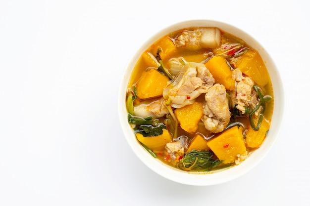 Curry de potiron au porc. espace copie