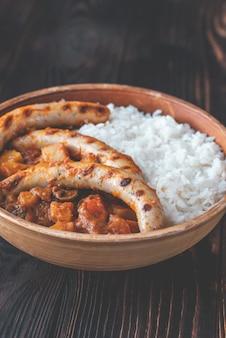 Curry rouge thaï aux saucisses