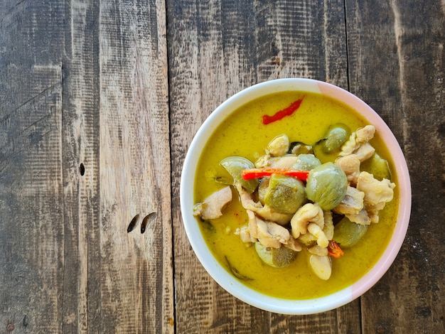 Curry vert de la cuisine thaïlandaise.