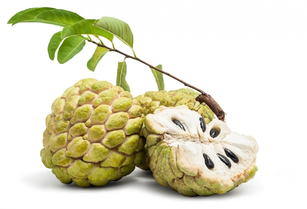Custard apple isolé