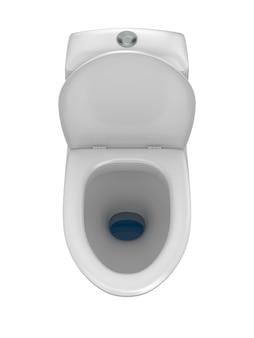 Cuvette des toilettes. isolé, rendu 3d